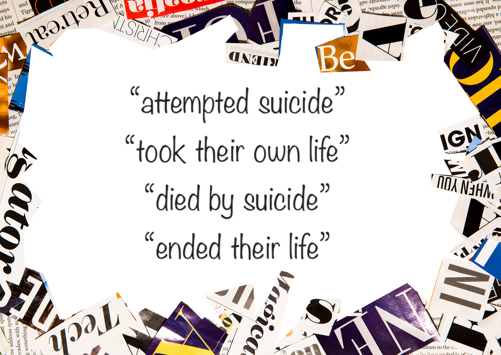 How do we better implement the use of academic and media guidelines to appropriately describe suicide?