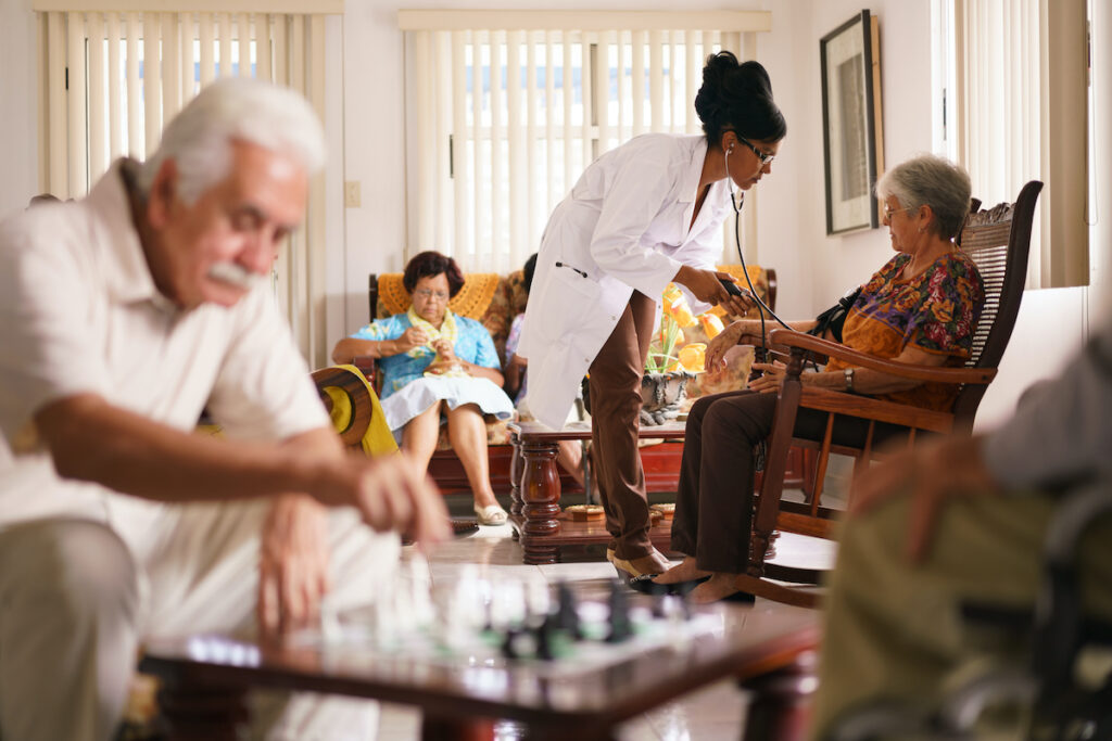 "63% increase in all-cause hospital admissions from nursing homes was noticed between 2011-2015 and the NHS has made reducing ""avoidable"" hospital admissions from nursing homes a priority, while 420,000 people in the UK currently reside in a care home."