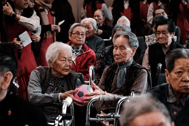 Volunteer work with the elderly