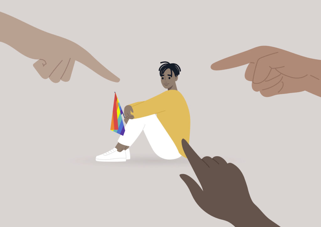 The findings indicated a higher prevalence of both victimisation and mental health difficulties amongst LGBTQ+ youths when compared to cisgender, heterosexual youths who also had lived experience of self-harm, suicidal ideation or behaviour.