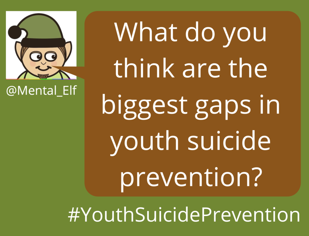 Join us on Twitter at 9am BST to discuss the future of #YouthSuicidePrevention.