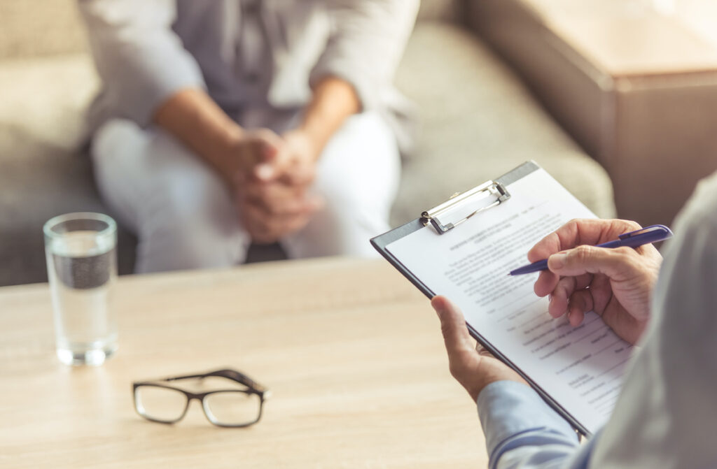 This qualitative study suggests that GPs and low-income clients have different opinions and experiences of self-referring to IAPT. GPs emphasise the advantages, whilst low-income clients feel this invalidates their lived experiences.
