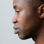 Facial,Profile,Of,Head,Of,Black,Young,African,Man